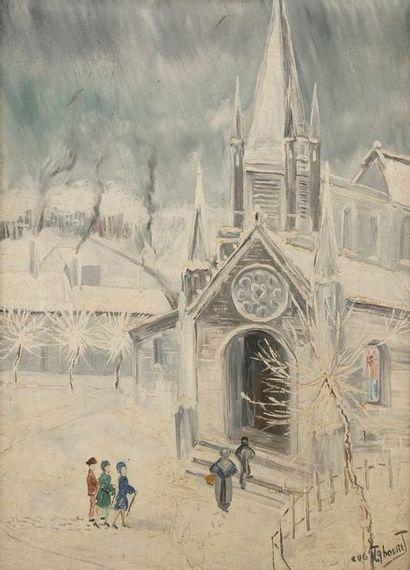 Eugène TABOURET (XIXe-XXe siècle) à l'église...