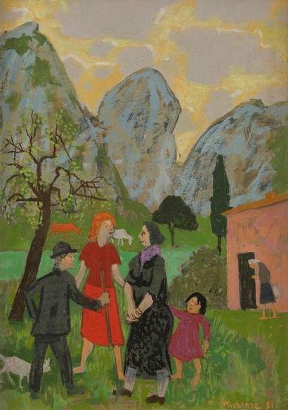 Grégoire MICHONZE (1902-1982) La Famille,...
