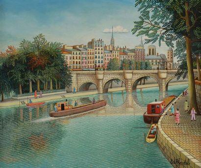 Émile BLONDEL (1893-1970) Paris, la Seine...