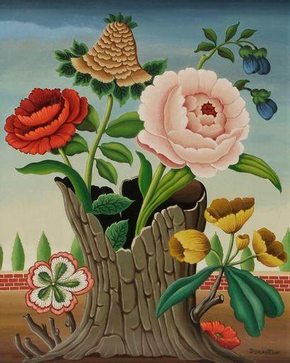 André DURANTON (1905-2010) Fleurs bizarres,...