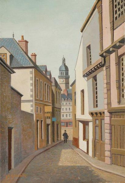 Philippe LE GOUAILLE (1912-2001) Ruelle Huile...