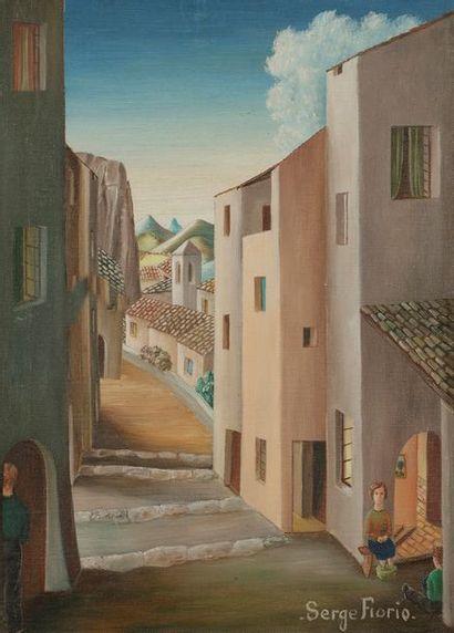 Serge FIORIO (1911-2011) Le Brusquet, 1974...