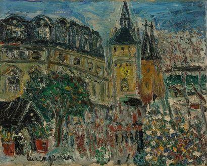 Lucien GENIN (1894-1953) Le Marché aux fleurs...