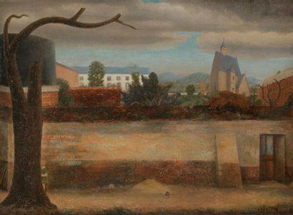 René RIMBERT (1896-1991) Le Vieux mur, 1949...