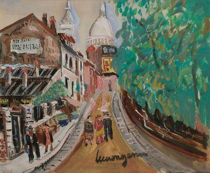 Lucien GENIN (1894-1953) Rue à Montmartre...