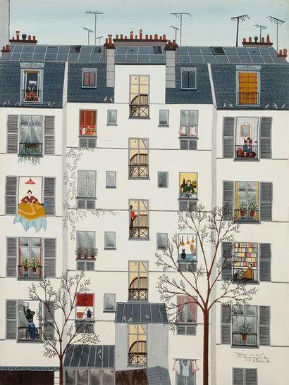 Anne-Marie SABATIER (né en 1947) Paris, fenêtre...
