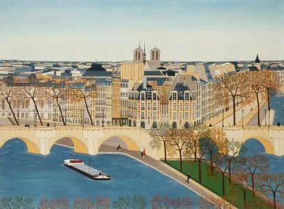 Anne-Marie SABATIER (né en 1947) Paris, Notre-Dame,...