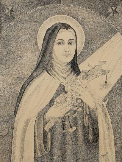 LARGILLIERE (XXe siècle) Sainte Thérèse de...