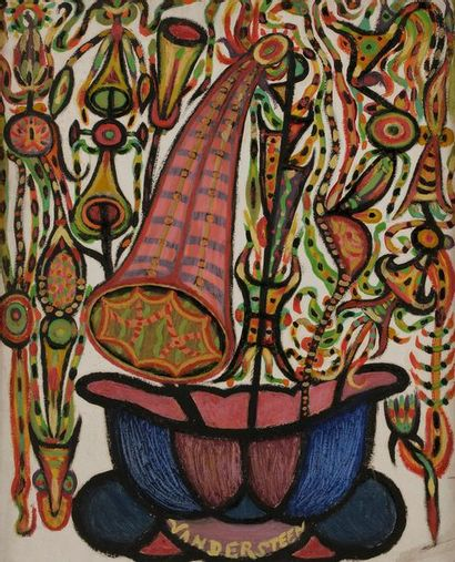 Germain VAN DER STEEN (1897-1985) Fleurs...