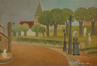 Ferdinand DESNOS (1901-1958) Vieille femme...