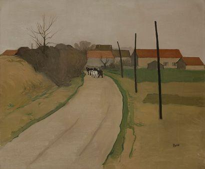 Joseph ROSSI (1892-1930) L'Entrée du village...