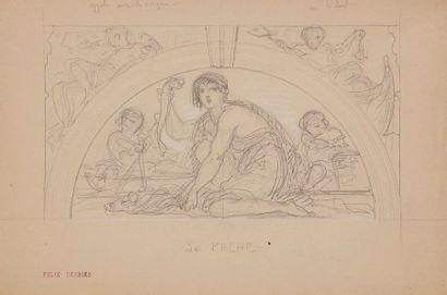 Louis-Ernest BARRIAS (1841-1905) Deux études...