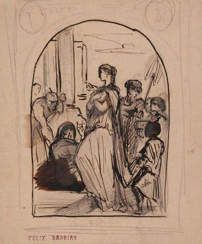 Louis-Ernest BARRIAS (1841-1905) Scène de...