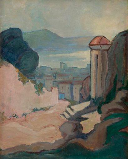 Attribué à Jean-Baptiste BASSOUL Corse, vue...