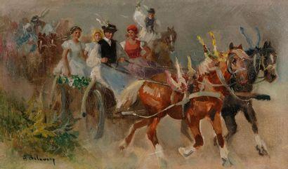 Bela BELAVARY (XIXe-XXe siècle) Convoi de...