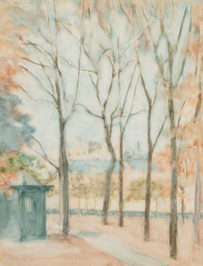 Benejou Rabinowicz dit BENN (1905-1989) Parc,...