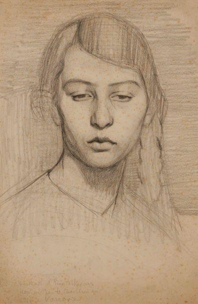 Henri BERLEWI (1894-1967) Portrait d'Eva...