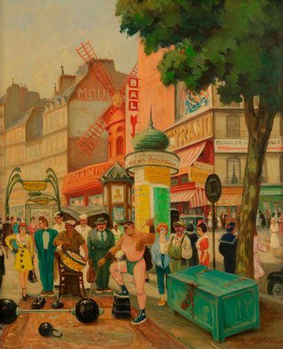 Gaston LE BEUZE (XXe siècle) Paris, L'Athlète,...