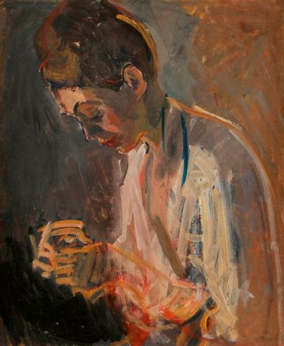 Maurice BLOND (1899-1974) Femme en prière...