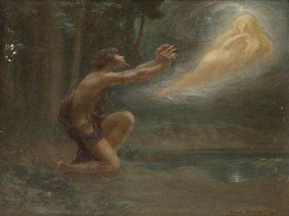Émile Jean Marie BRUNET (1869-1943) L'Apparition,...