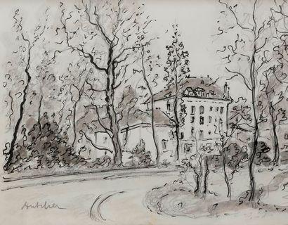 Isaac ANTCHER (1899-1992) Le Parc Crayon...
