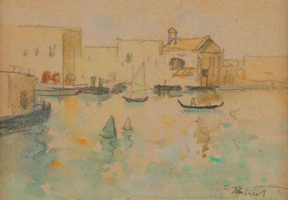 Louis Robert ANTRAL (1895-1940) Gondoles...