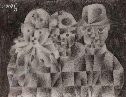 Mario AVATI (1921-2009) Cartes de vœux (Polichinelle...