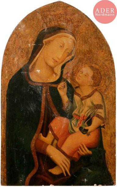Dans le goût du XIVe siècle Vierge à l'Enfant...