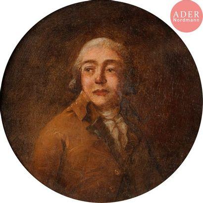 École ANGLAISE 1787, MOLINCAM*** (?) Portrait...