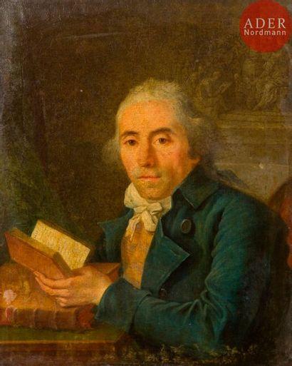École FRANÇAISE vers 1760 Portrait d'un homme...