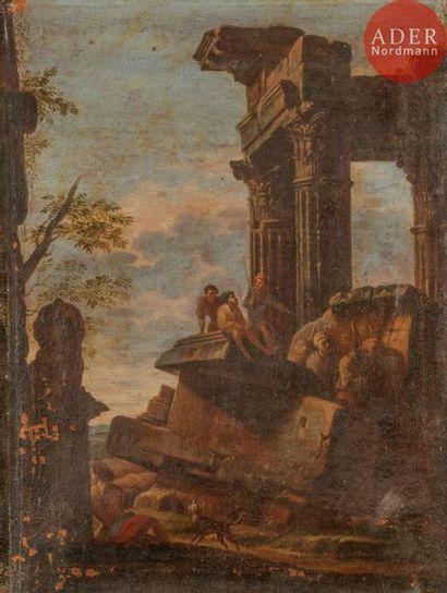 Dans le goût de PANINI Ruines animées Paire...