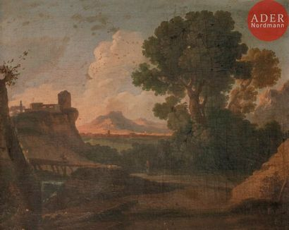 École ROMAINE du XVIIIe siècle, entourage...