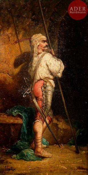Aristide LEFORT (XIXe siècle) Guerrier turc...