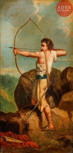 Aristide LEFORT (XIXe siècle) Tireur à l'arc...