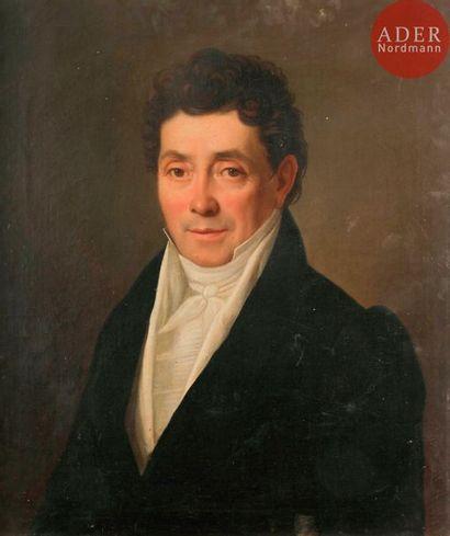 École FRANÇAISE vers 1810 Portrait d'homme...