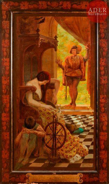 Raphaël DELORME (1885-1962) La Belle au bois...