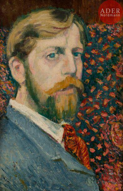 *Georges LEMMEN (1865-1916) Autoportrait,...