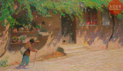 Henri MARTIN (1860-1943) Le Trimardeur, avant...
