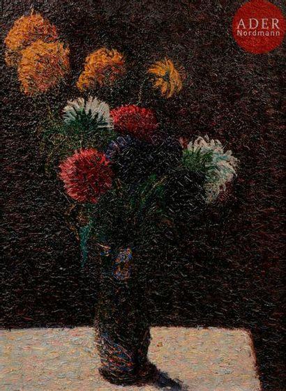 *Arthur SEGAL (1875-1944) Vase de fleurs,...