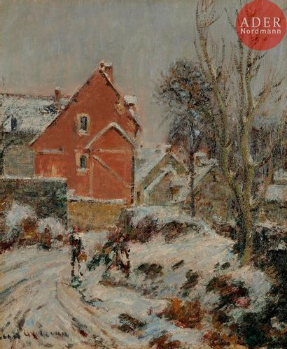 Gustave LOISEAU (1865-1935) Effet de neige...