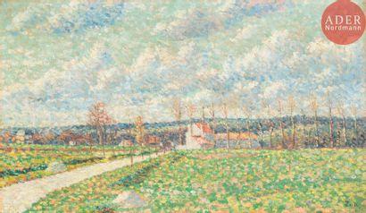 Maximilien LUCE (1858-1941) Route de Lagny,...