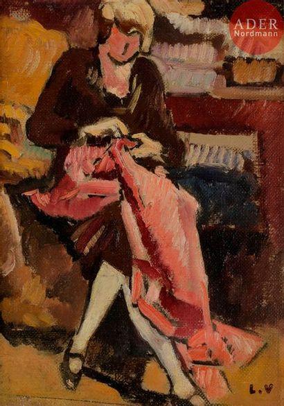 *Louis VALTAT (1869-1952) La Couturière assise,...