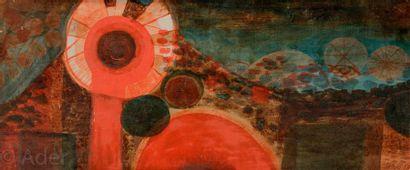 René BRÔ (1930-1986) Paysage, 1958 Huile...