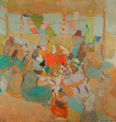 Pierre LESIEUR (1922-2011) En été, 1960 Huile...