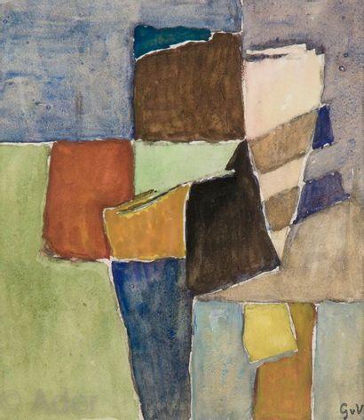 Geer VAN VELDE [hollandais] (1898-1977) Composition...