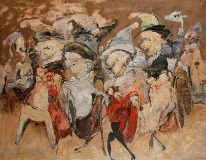 Roger Edgar GILLET (1924-2004) Les Binches,...