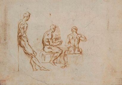 École italienne du XVIe siècle Deux joueurs...