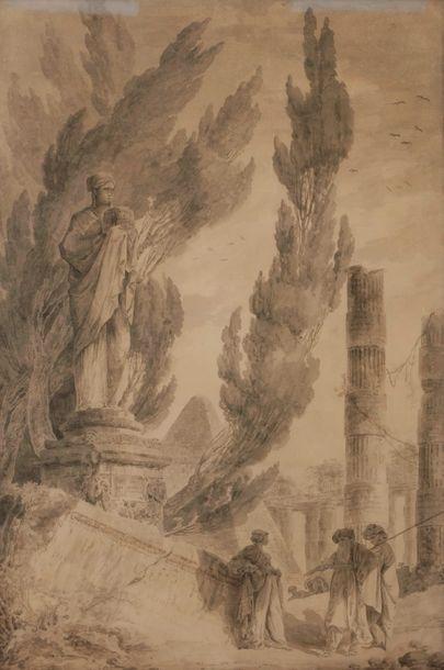 Entourage d'Hubert ROBERT (Paris 1733 - 1808)...