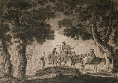 Jean PILLEMENT (Lyon 1728 - 1808) Paysage...