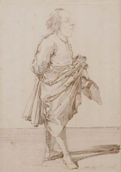 Pier Leone GHEZZI (Rome 1674 - 1755) Le duc...